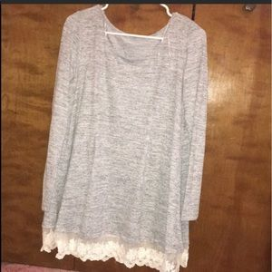 Francesca's Lace Layering Tunic